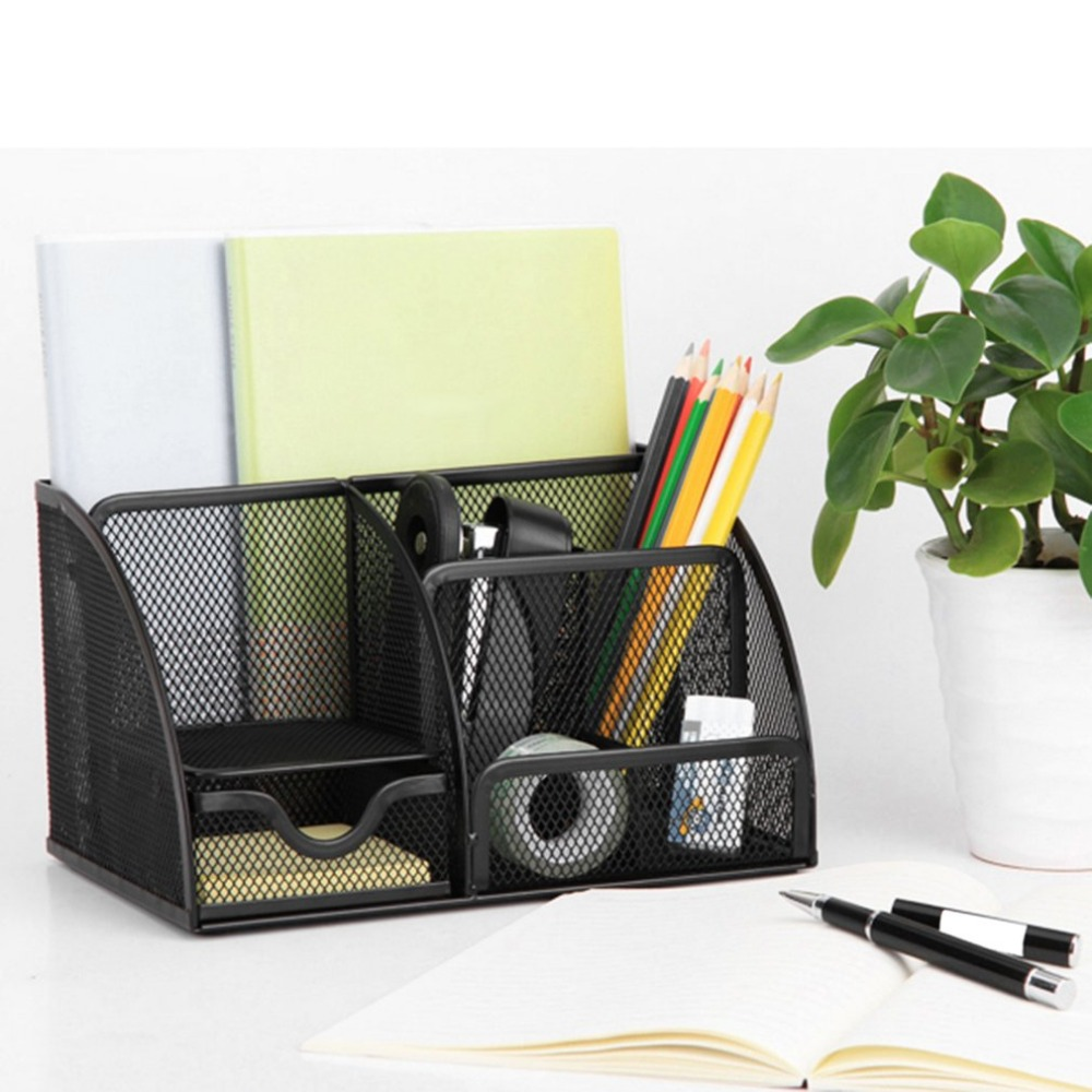 office pen holder. Deli Office Pen Container Small Objects Storage Box Multifunctional Desk Organizer Portable Holder School Supplies-in Holders From R