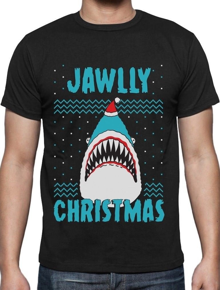 jawlly christmas ugly christmas sweater for xmas party shark t shirt gift idea - Shark Christmas Sweater
