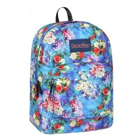 RT1505D5 25 New High School Student Printed Schoolbag Flowers Double Shoulder Bag Female Large capacity Nylon Backpack