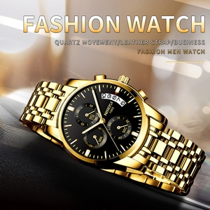 Image 3 - NIBOSI Watch Men Fashion Sport Quartz Clock Mens Watches Top Brand Luxury Business Waterproof Gold Black Watch Relogio Masculino