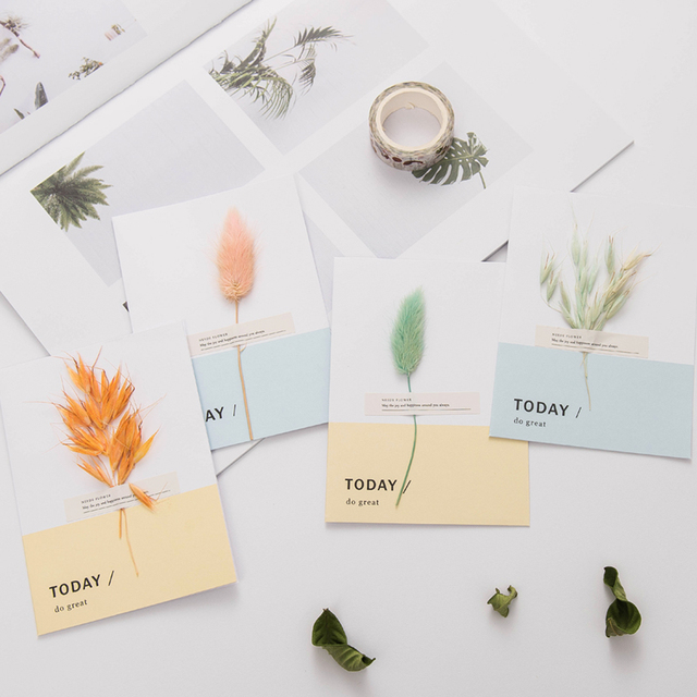 handmade flower envelope immortal birthday card korean creative gift