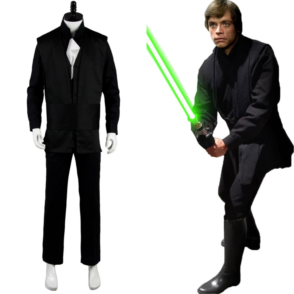 Star Wars The Empire Strikes Back Luke Skywalker Cosplay Men Halloween Costume