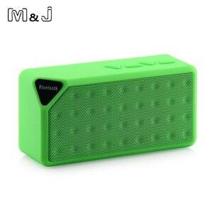 Image 4 - M & J Bluetooth スピーカー X3 Jambox スタイル TF USB FM ワイヤレスポータブル音楽サウンドボックスサブウーファースピーカーとマイクカイシャ · デ · ソム