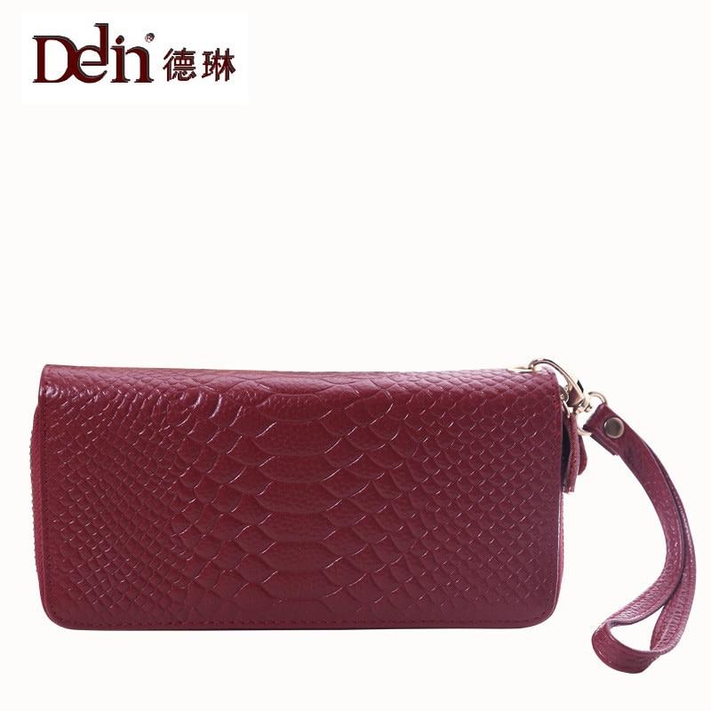 DELIN The new lady crocodile handbags fashion brand handbags leather wallet leather hand font b bags