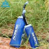 AONIJIE 350 600 mL Rennen Sport Wasser tasche Folding TPU Lauf Faltbare TPU Weiche Lange Straw Wasserflasche Wasserkocher