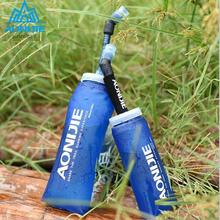 AONIJIE 350 600mL Running Sport Water bag Folding TPU Foldable Soft Long Straw Bottle Kettle