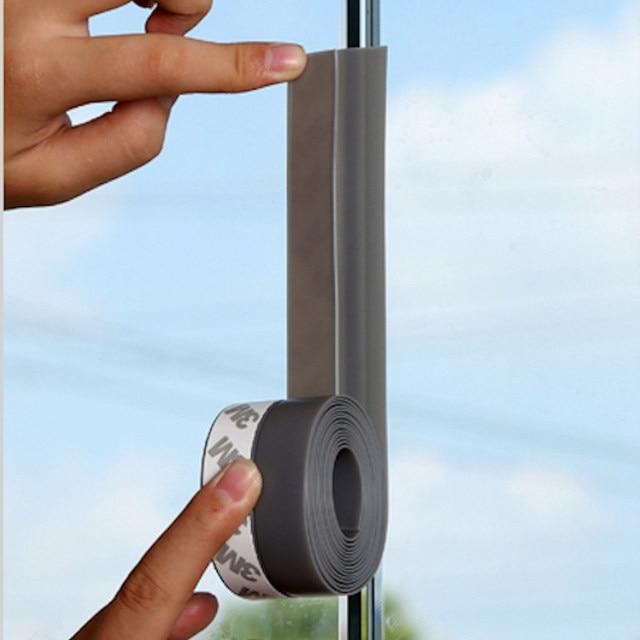 Weatherstrip Draft Stopper Frameless Window Sliding Door Seals Silicon  Rubber 25mm / 35mm / 45mm X 3m 5m Gray Brown Black White