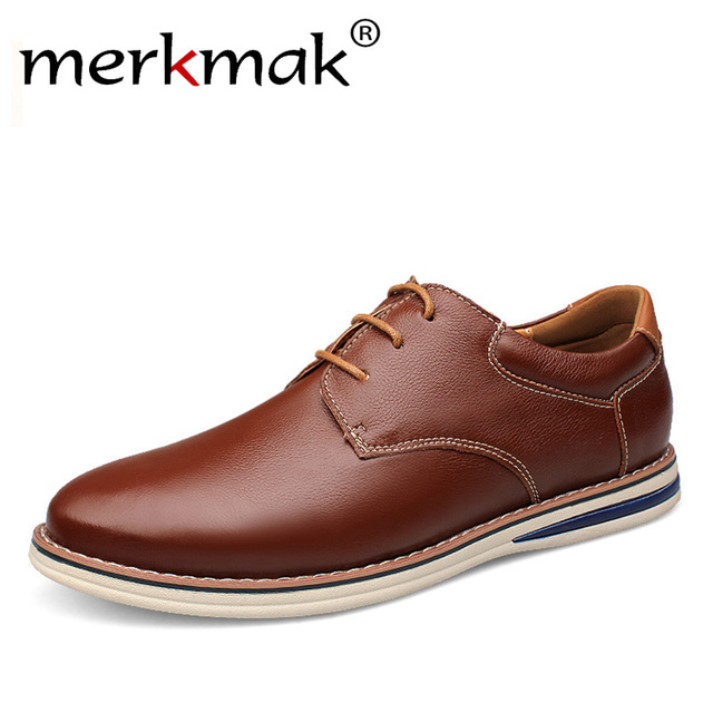 Grote Maat 47 Merk Ontwerp Mannen Schoenen Echt Lederen Heren Casual Schoenen Luxe Voorjaar Formele Flats Oxfords Kantoor Hot koop