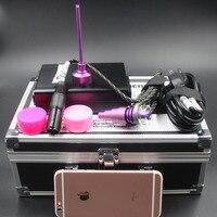 Aluminum Box DNAIL Controller Wax Black PID TC Box With Flat Coil Heater Colored Titanium Nail