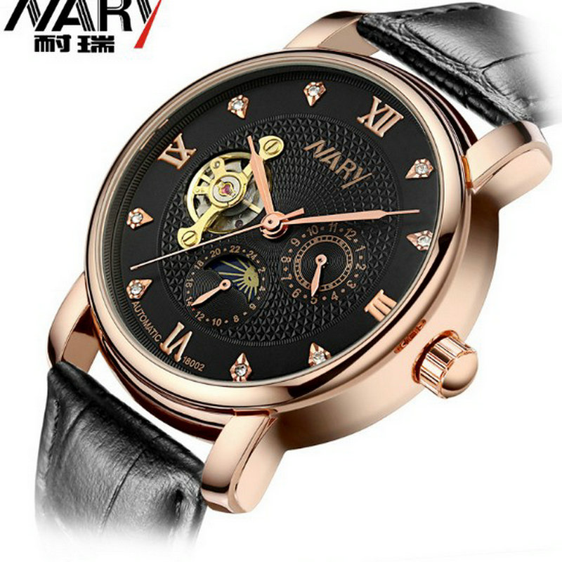 The new fashion business casual watch belt mechanical watch students watch lovers