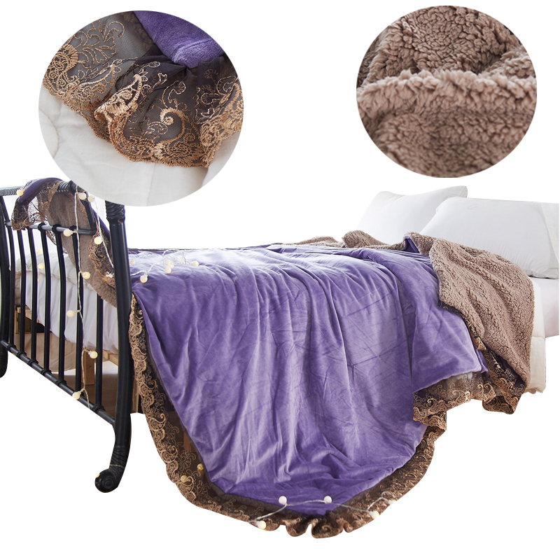 Aliexpress Com Buy Svetanya Lace Throws Blanket Solid