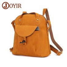 JOYIR New designer fashion crazy horse brown genuine leather backpacks woman vintage style women backpack bolsas mochila