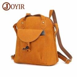 JOYIR mode en cuir véritable femmes sac à dos vintage marron école fille sac à bandoulière sacs à dos dames shopping voyage sacs 3011