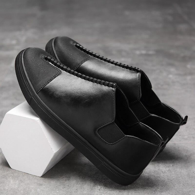 수제 남자 신발 고품질의 가죽 캐주얼 운전 - 남성용 신발 - 사진 4