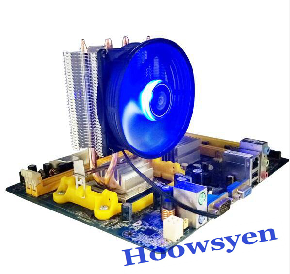 Computer fan CPU radiator multi platform game fan double copper tube 775/1155/1156 computer radiator