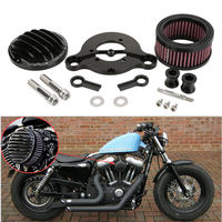 Black Motorcycles Air Filter CNC Air Cleaner Intake Filter With Accessories Fit For Harley Sportster 883