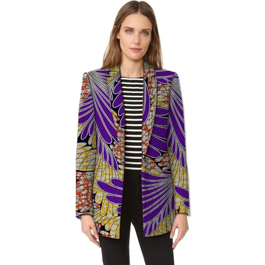 Womens African blazer fashion Ankara print suit jacket Office Lady design dashiki blazers tailor made africa clothing