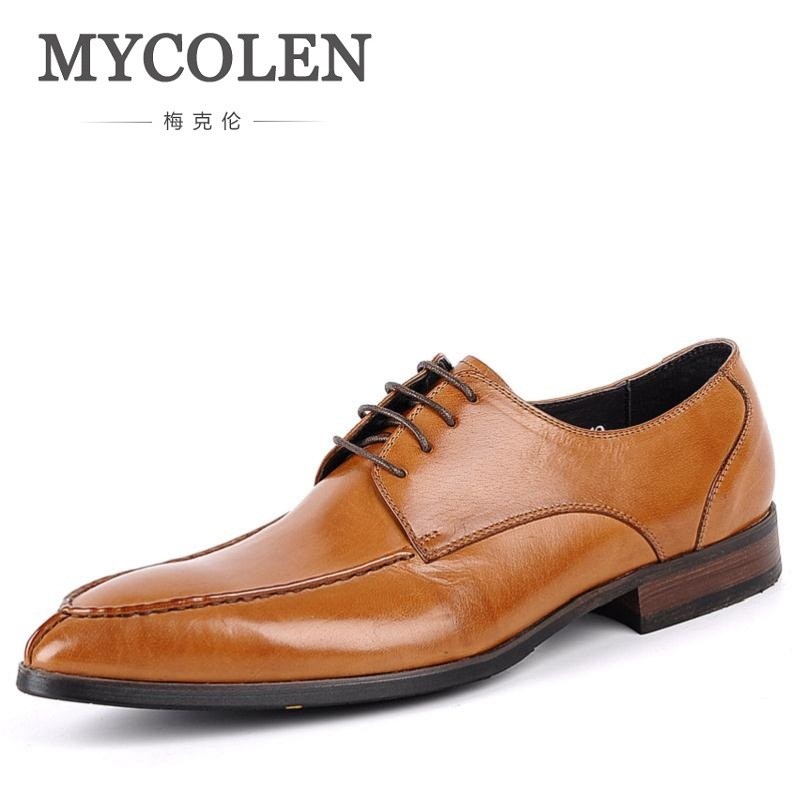 MYCOLEN Wedding Men Dress Shoes Genuine Leather 2018 Summer Breathable Business Black Formal Male Shoes Zapatos Para Hombre choudory summer dress crocodile skin shoes men breathable prom shoes full grain leather pointy mens formal shoes shoe lasts