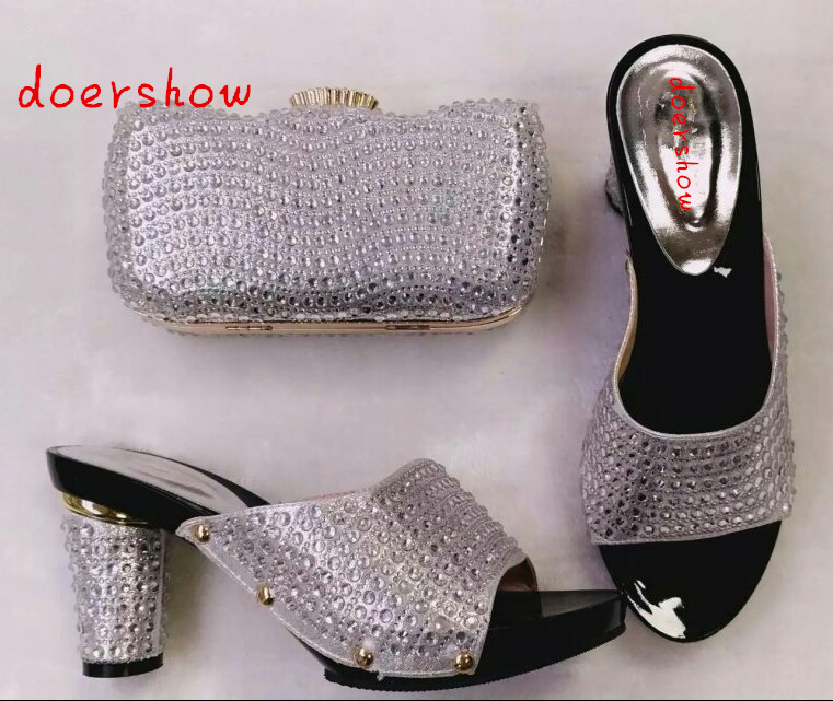 doershow 2016 High quality Nigeria silver color wedding shoes,Italian shoes and bags set to match free shipping  HHY1-25 banking reforms and banks stability in nigeria 1986 2009