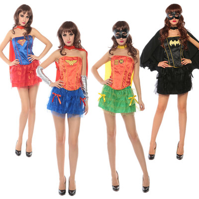 Home Intellective Woman Sexy Tutu Dress Superman Batman Cosplay Costume For Girls Superhero Costume For Halloween Purim Carnival Party Full Set Spare No Cost At Any Cost