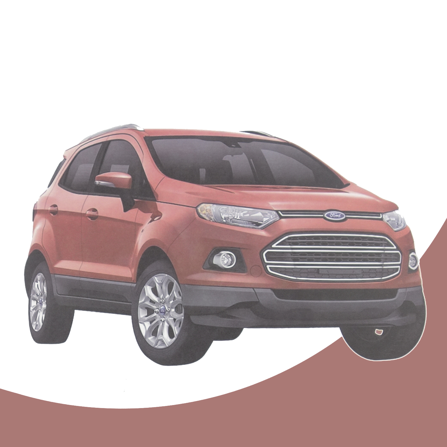 Suv Cars Page 7: DIY 1:24 FORD Ecosport SUV Car Paper Model Assemble Hand