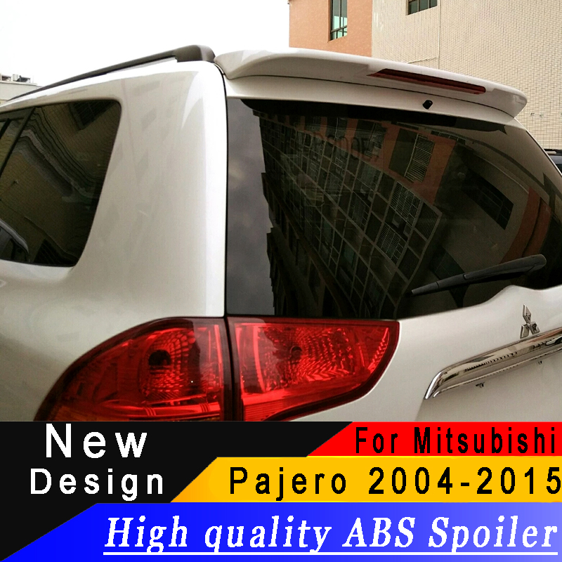 For Mitsubishi Pajero Sport 2004 to 2015 roof spoiler High quality ABS spoiler Primer or any color rear spoiler for Pajero SportFor Mitsubishi Pajero Sport 2004 to 2015 roof spoiler High quality ABS spoiler Primer or any color rear spoiler for Pajero Sport