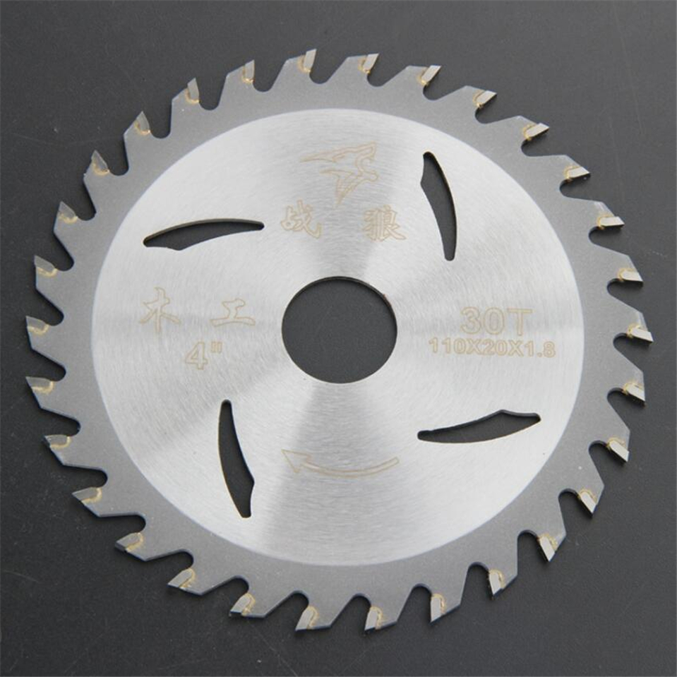 Wood Cutting Disc 1PC 4 Inch 110*20*1.8*30T/40T TCT Saw Blade Carbide Tipped For DIY&Decoration General Wood Cutting
