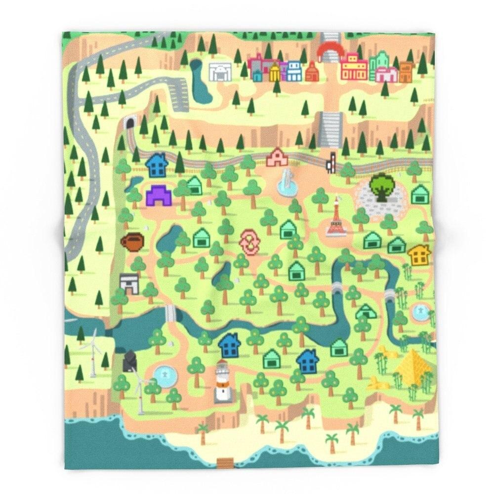 Blanket Custom Animal Crossing  Fleece Blanket Sofa/Bed/Plane Travel Plaids Bedding Towel