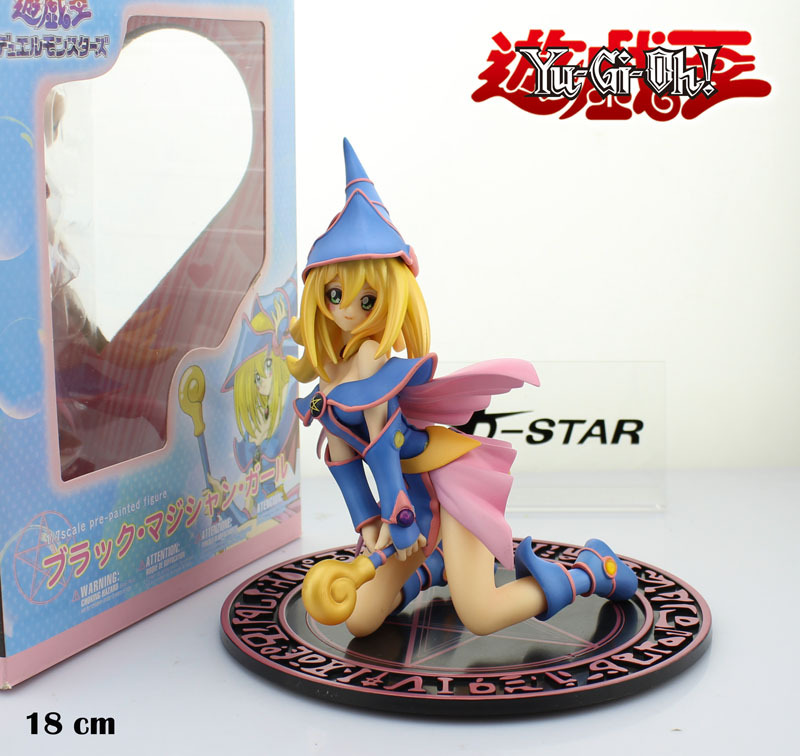Free Shipping 7 Yu Gi Oh Yu-Gi-Oh! Duel Monster: Dark Magician Girl Boxed 18cm PVC Action Figure Collection Model Doll Toy Gift [sgdoll] 2017 new anime yu gi on duel monsters yami yugi 1 7 pvc figure no box hot sale free shipping 5278 l