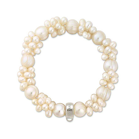 AENINE Fashion White Freshwater Cultured Pearl Crafted In Bracelets Hanging Charms Bracelet Jewelry For Women Armbander TSBR027