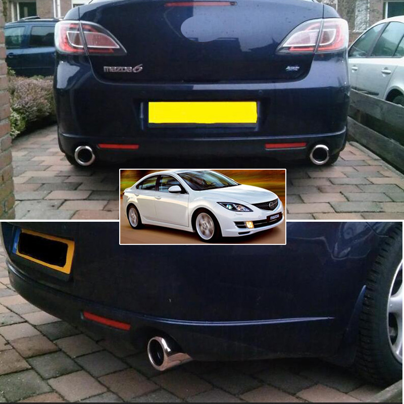 HOT SALE] 2PC S'STEEL EXHAUST TIP FOR MAZDA 6 2009 CX 5 CX5