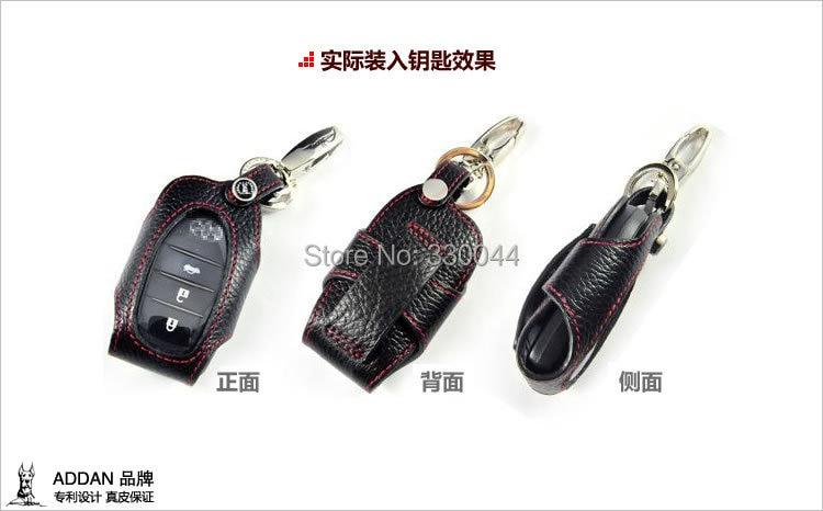 Funda de cuero genuino para Toyota Camry Corolla RAV4 Highlander - Accesorios de interior de coche - foto 3