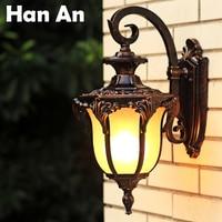 European American outdoor light E27 retro living room balcony patio waterproof wall lamp aisle villa country style