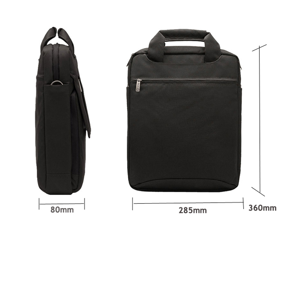 Laptop Bag 13 3 quot 14 quot Water Resistant Oxford Briefcase Messenger Shoulder Bag with Strap Carry On Handle for Men Business in Laptop Bags amp Cases from Computer amp Office