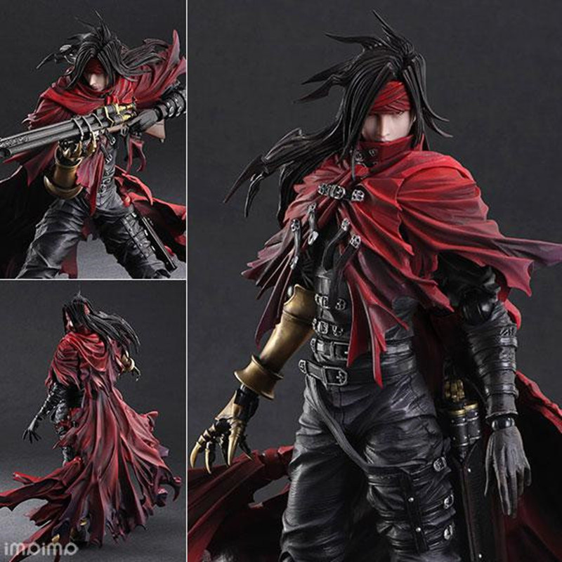 Play Arts <font><b>Final</b></font> <font><b>Fantasy</b></font> <font><b>7</b></font> Vincent Valentine Action Figures Dirge of Cerberus BJD Collectible Toys 25cm image