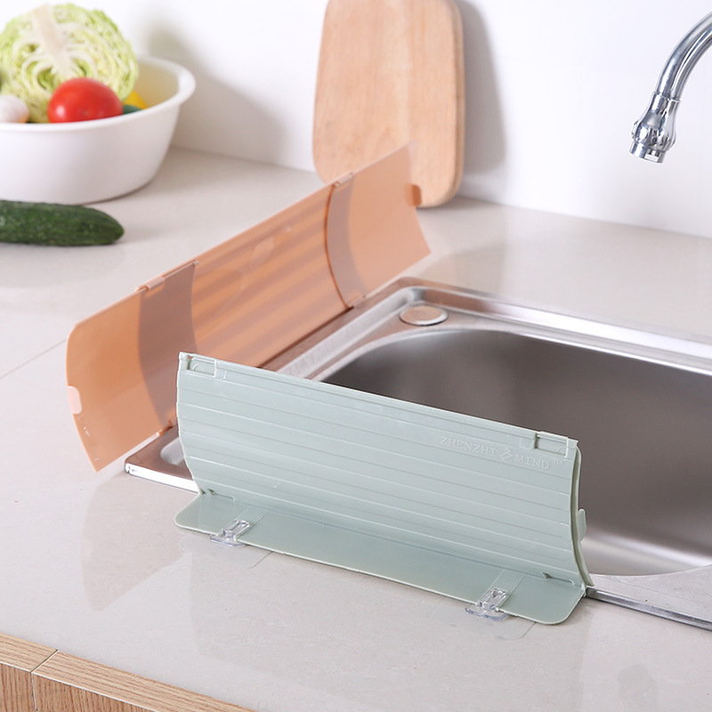 Household kitchen suction cup type splash guard water sink Flap Water Barrier Oil-proof Splashproof Baffle Repeatable baffle