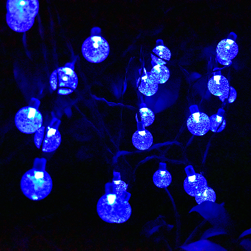 Battery powered 30 led crystal ball string lights outdoor 8 modes battery powered 30 led crystal ball string lights outdoor 8 modes dimmable waterproof globe fairy lights for patio garden yard in lighting strings from aloadofball Image collections