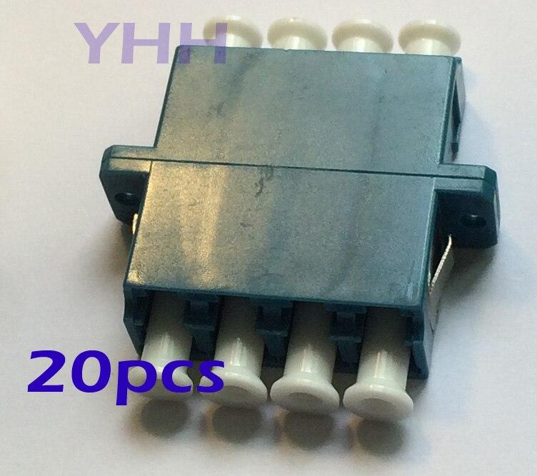 50pcs LC-Quad-with Flange-Blue /Optic Fiber Adapter