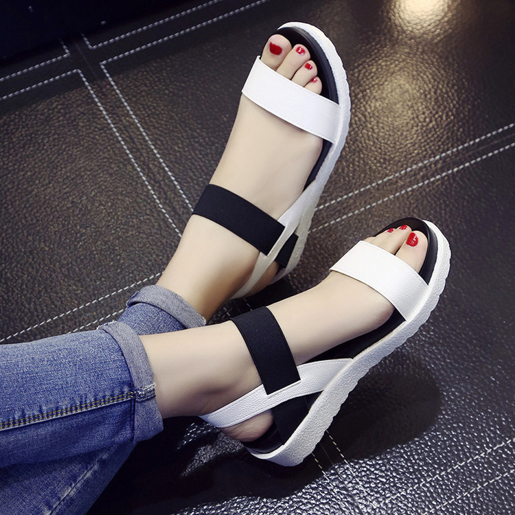 HTB1VXQrof6H8KJjSspmq6z2WXXaW 2019 New Hot Sale Sandals Women Summer Slip On Shoes Peep-toe Flat Shoes Roman Sandals Mujer Sandalias Ladies Flip Flops Sandal