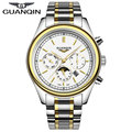 Luxury Brand GUANQIN 2015 New Fashion & Casual Full Stainless Steel Multifunctional Men Quartz Watches Clock relogio masculino