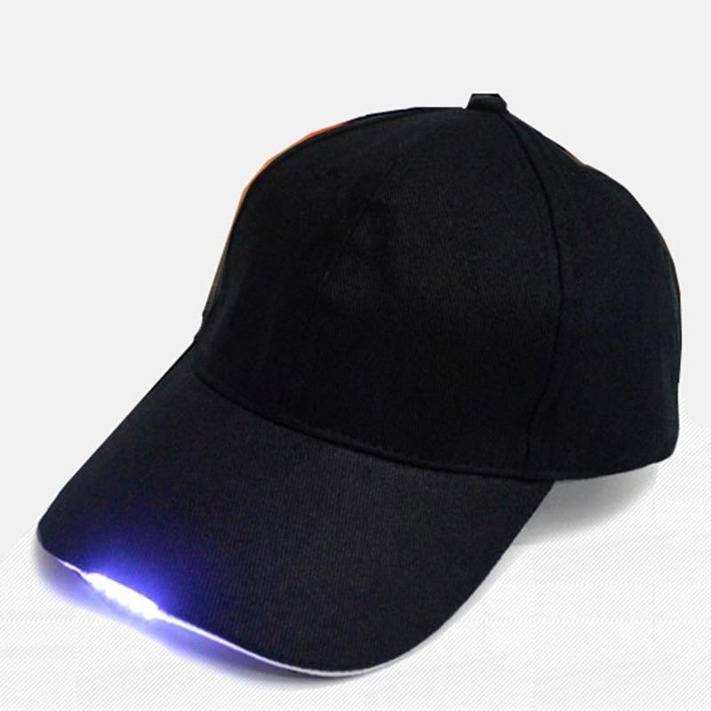 Prix pour Super Lumineux LED Cap Lueur dans l'obscurité pour La Lecture LED Lumières Chapeau 2 Modes baseball caps 5 LED lumières chapeaux