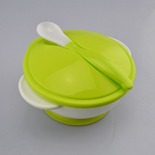 лучшая цена 2019 NEW M89CSlip-resistant Wall Suction Child Tableware Baby Kids Sucker Dishes Gravity Bowl food Bowl Spoon Drop Baby Spoon