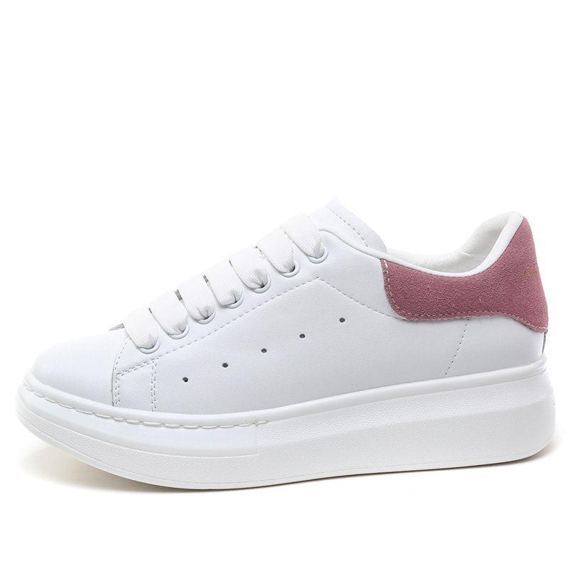 MORAZORA 6 couleurs 2019 nouvelle plate-forme en cuir véritable baskets femmes chaussures décontractées en cuir de vache classique petites chaussures blanches femme - 6