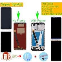 ORIGINAL For Huawei Y9 2018 LCD FLA-AL00 FLA-AL10 FLA-AL20 Display Touch Screen Assembly With Frame ENJOY 8 PLUS