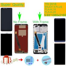 ORIGINAL For Huawei Y9 2018 LCD FLA-AL00 FLA-AL10 FLA-AL20 LCD Display Touch Screen Assembly With Frame For ENJOY 8 PLUS LCD(China)