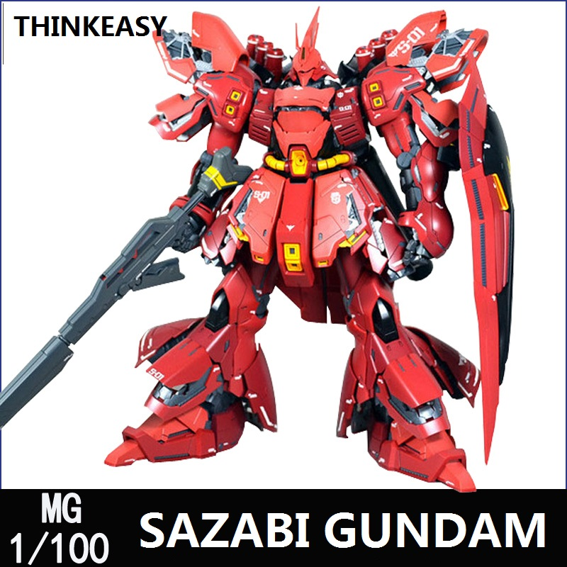 DABAN Gundam Model MG 1/100 SAZABI Justice Freedom 00 Destiny Armor Unchained Mobile Suit Kids Toys WITH Specail Sticker cmt daban 1 100 mg gundam mb ver detail strike freedom fighter robot model kit action figure