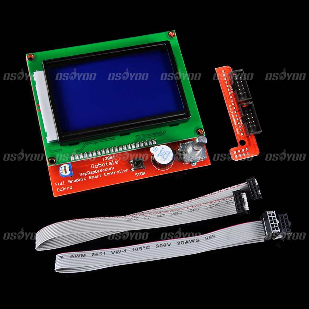 12864 LCD Ramps Smart Parts RAMPS 1 4 Controller Display Monitor Motherboard Blue Screen for 3D