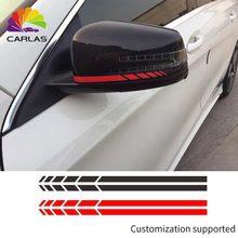 Для автомобильного стайлинга светоотражающий водонепроницаемый стикер зеркало заднего вида наклейка полоса DIY внешние аксессуары для Toyota BMW BENZ