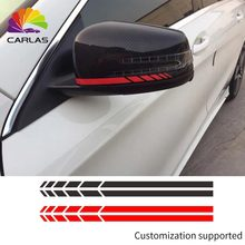 Araba Stil Yansıtıcı su geçirmez etiket Dikiz Yan Ayna Çıkartması Şerit DIY Dış Aksesuarlar BMW BENZ