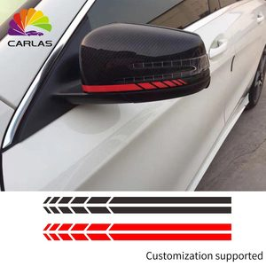 Image 1 - Car Styling Reflective Waterproof Sticker Rearview Side Mirror Decal Stripe DIY Exterior Accessories For Toyota BMW BENZ